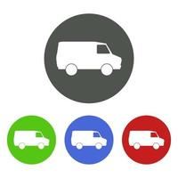 Set Of Van On White Background vector