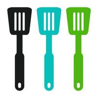 Spatula Set On White Background vector