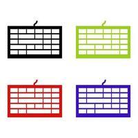 teclado de computadora en fondo blanco vector