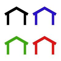 Roof Set On White Background vector