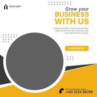 Digital business marketing social media template vector