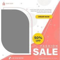 Fashion style social media template vector