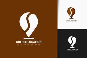 Coffee location logo design vector