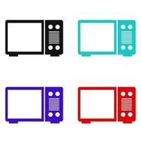 Microwave Oven Set On White Background vector
