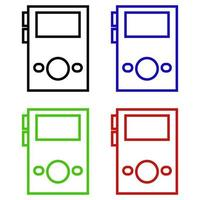 Set Of Mp3 Player On White Background vector