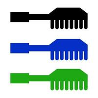 Comb Set On White Background vector