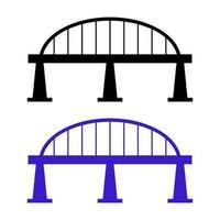 puente sobre fondo blanco vector