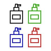 Perfume Set On White Background vector