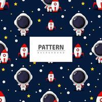 Astronaut seamless pattern vector