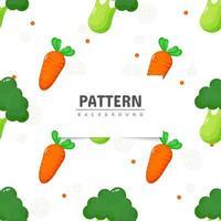 brócoli y zanahoria de patrones sin fisuras vector