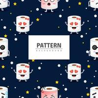 Seamless pattern toilet paper vector