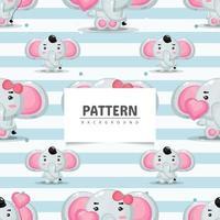 diseño de elefante de patrones sin fisuras vector