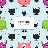 diseño de monstruo de patrones sin fisuras vector
