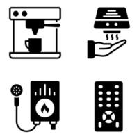 Pack of Appliance glyph Icons vector