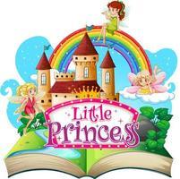 Libro emergente 3d con tema de princesita vector