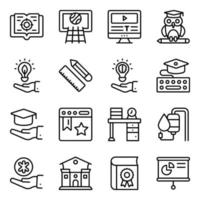 Pack of Modern Learning Linear Icons vector
