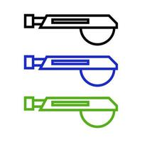Set Of Electric Saw On White Background vector