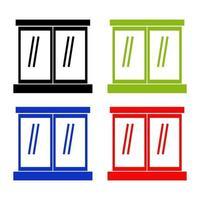 Set Of Windows On White Background vector