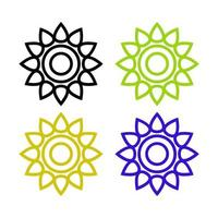 Set Of Flowers On White Background vector
