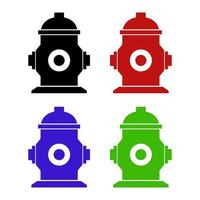 Set Of Hydrant On White Background vector