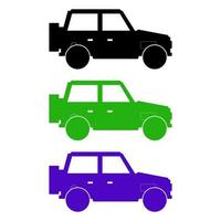 Set Of Jeeps On White Background vector