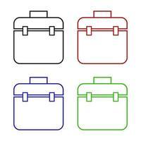 caja de herramientas en fondo blanco vector
