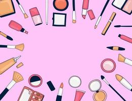 Colorful Hand Drawn Make up Background vector
