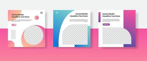 Travel social media post template banner vector