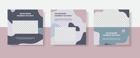 Food social media post template banner vector