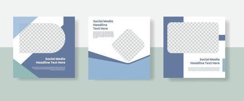Social media post template banner vector