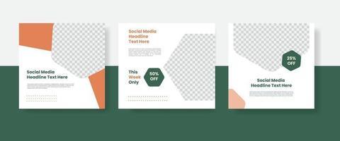 Food social media post template banner