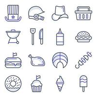 Pack of Independence Day Flat Icons vector