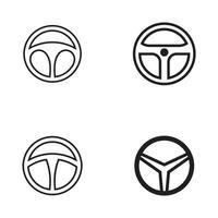 Car steering icon logo design template vector