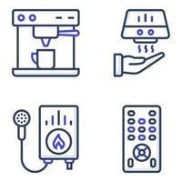 Pack of Appliance flat Icons vector