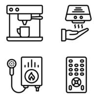 Pack of Appliance Linear Icons vector