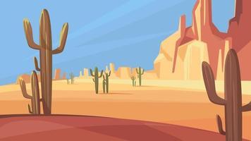 paisaje del desierto de texas. vector