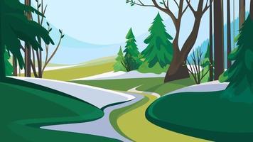camino fuera del bosque. vector