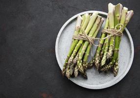 Fresh green asparagus photo
