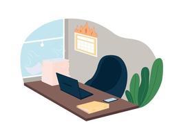 fecha límite de trabajo y carga de trabajo 2d vector web banner, poster