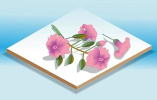 Isometric Flowers Icon and Illustration vector