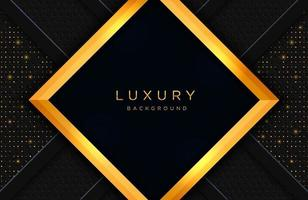Luxury elegant background with gold lines composition and luster effect. Business presentation layout vector