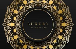 Luxury background with shimmering gold islamic arabesque ornament on dark surface vector