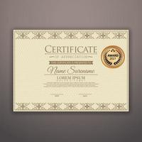 Diploma Certificate of achievement template vector