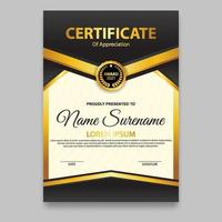 Modern certificate template. Suitable for appreciation. Premium vector. vector