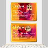 Professional certificate template diploma award design. Indoor Background. vector