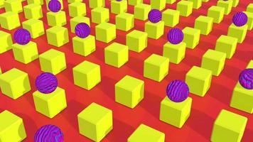 fondo de geometría abstracta colorida video