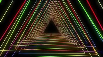fundo abstrato triângulos coloridos
