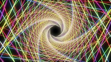 fundo espiral digital colorido abstrato