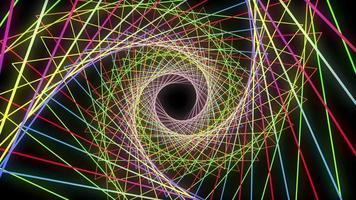 fundo espiral triângulo colorido abstrato