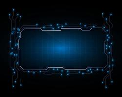 Screen science hologram circuit frame template concept vector